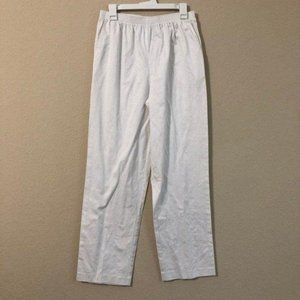 Alfred Dunner White Pants Classic Fit